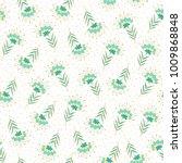 seamless vector floral pattern... | Shutterstock .eps vector #1009868848