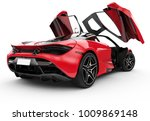 Red Modern Sport Car With Oper...