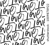 love. seamless pattern with... | Shutterstock .eps vector #1009878922