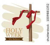 holy week catholic tradition | Shutterstock .eps vector #1009881352