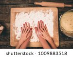 family cooking homemade cakes ... | Shutterstock . vector #1009883518