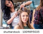 working day inside the hair... | Shutterstock . vector #1009895035