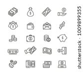 money related icons  thin... | Shutterstock .eps vector #1009899355