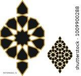 ottoman tile and tezhip motifs... | Shutterstock .eps vector #1009900288