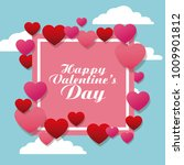 happy valentines day   Shutterstock .eps vector #1009901812