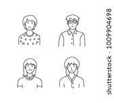 cartoon sketch people | Shutterstock .eps vector #1009904698