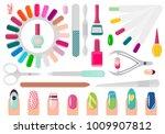 manicure service sharp... | Shutterstock .eps vector #1009907812