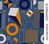 geometric vector pattern form... | Shutterstock .eps vector #1009908478