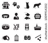pet shop icons. black flat... | Shutterstock .eps vector #1009914202