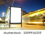 blank advertisement mock up in... | Shutterstock . vector #1009916335