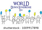 world day of down syndrome.... | Shutterstock .eps vector #1009917898