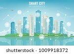 city infographic. modern city... | Shutterstock .eps vector #1009918372