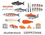 cutting salmon guide | Shutterstock .eps vector #1009925446