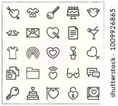 valentine's day line icons set... | Shutterstock .eps vector #1009926865