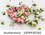 red and white decorations on... | Shutterstock . vector #1009930282