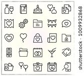 valentine's day line icons set... | Shutterstock .eps vector #1009932868