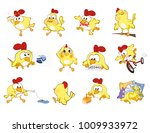 vector set of cute chickens in...   Shutterstock .eps vector #1009933972