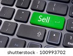 sell message on keyboard, to sell something or sell concept for stock market. - stock photo