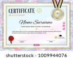official certificate with badge ... | Shutterstock .eps vector #1009944076