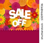 season sale off vector concept. ... | Shutterstock .eps vector #1009948936