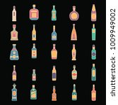 alcohol bottles cartoon icons... | Shutterstock .eps vector #1009949002