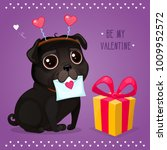 greeting card for valentine's... | Shutterstock .eps vector #1009952572