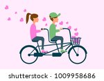 couple in love two happy people ... | Shutterstock .eps vector #1009958686