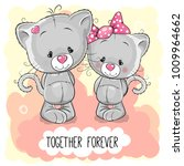 valentines card with cute...   Shutterstock .eps vector #1009964662