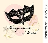 masks for a masquerade. vector... | Shutterstock .eps vector #100997812
