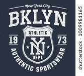 new york city bklyn   tee... | Shutterstock .eps vector #1009981165