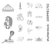 Country India Outline Icons In...