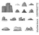 different mountains monochrome... | Shutterstock .eps vector #1009983772