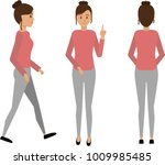 woman in casual clothes in... | Shutterstock .eps vector #1009985485
