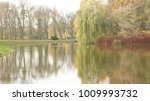 autumn park  the pond  ... | Shutterstock . vector #1009993732