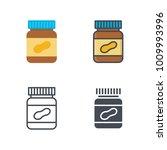 peanut butter breakfast flat... | Shutterstock .eps vector #1009993996