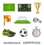 collection of vector soccer... | Shutterstock .eps vector #1009995202