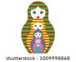 matryoshka set icon russian... | Shutterstock .eps vector #1009998868