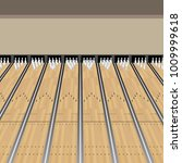 an image of a bowling alley... | Shutterstock .eps vector #1009999618