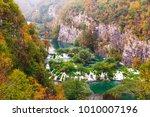 top view of wooden ways in... | Shutterstock . vector #1010007196