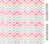chevron zigzag paint brush... | Shutterstock .eps vector #1010007598