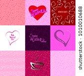 happy valentines day set.... | Shutterstock .eps vector #1010010688