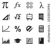 mathematics icons. black flat... | Shutterstock .eps vector #1010013496