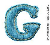 denim letter. jeans alphabet g | Shutterstock .eps vector #101001352