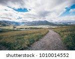 denali national park  a road is ... | Shutterstock . vector #1010014552