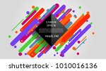 vector  abstract geometric... | Shutterstock .eps vector #1010016136