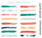 modern watercolor daubs set ... | Shutterstock .eps vector #1010016295