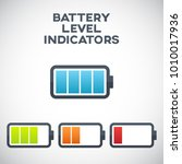illustration of battery level... | Shutterstock .eps vector #1010017936