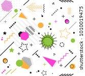 trendy memphis seamless style... | Shutterstock .eps vector #1010019475
