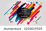 vector  abstract geometric... | Shutterstock .eps vector #1010019535