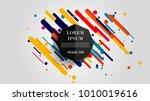 vector  abstract geometric... | Shutterstock .eps vector #1010019616